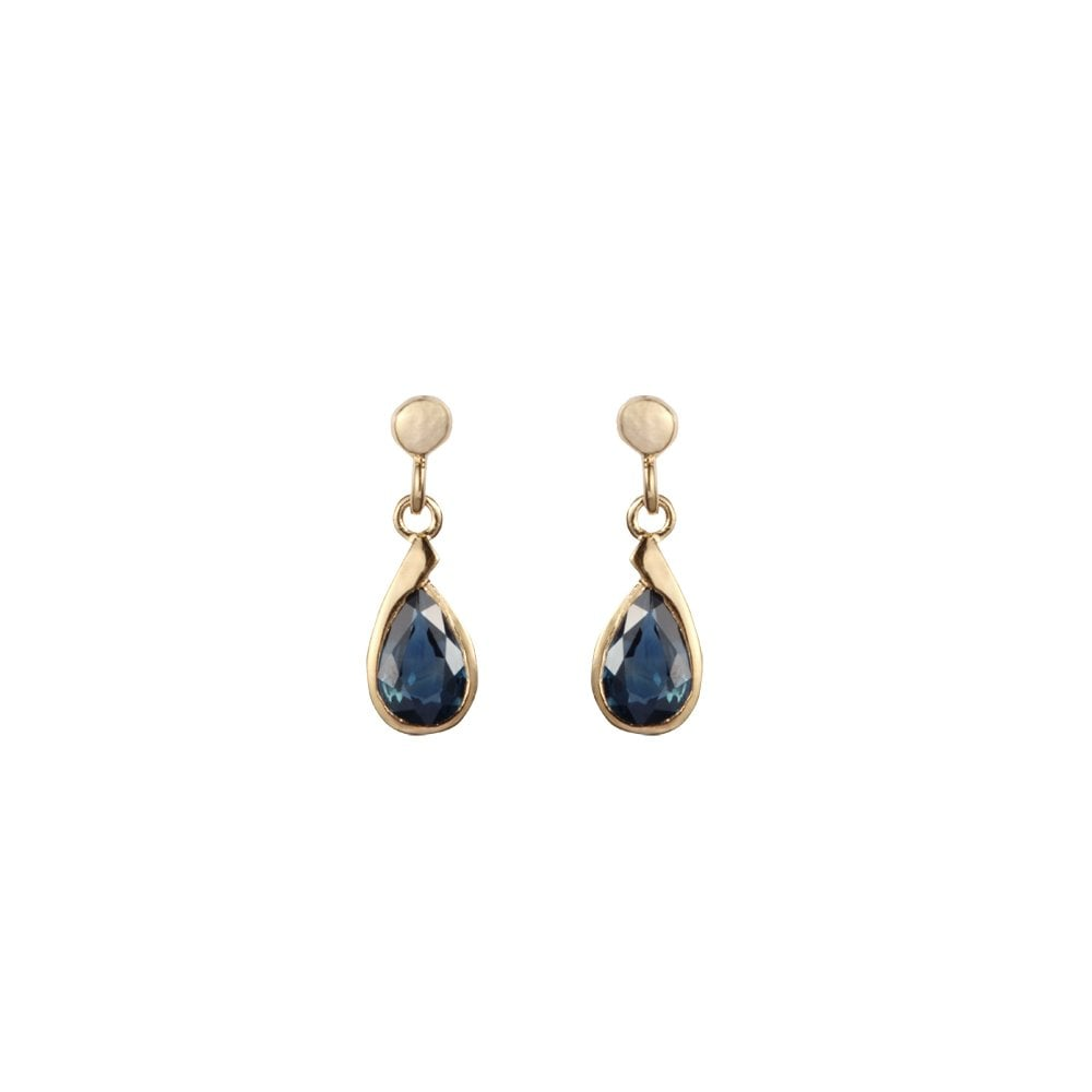 cdce78a45 Goodwins 9ct Yellow Gold Sapphire Drop Earrings - Ladies from ...