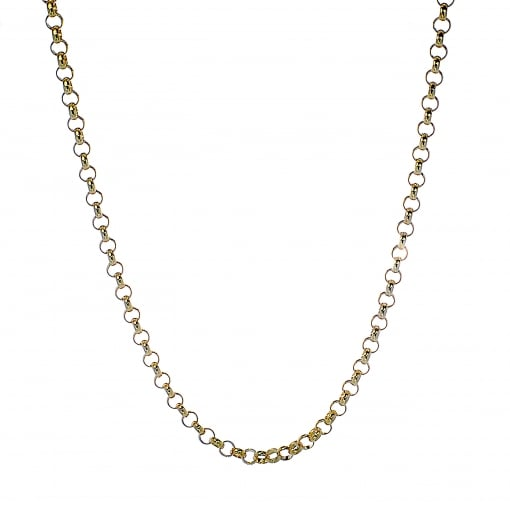 Goodwins 9ct Yellow Gold Solid Belcher Chain 22 inches