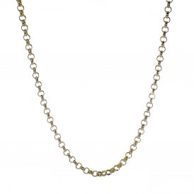 9ct Yellow Gold Solid Belcher Chain 22 inches