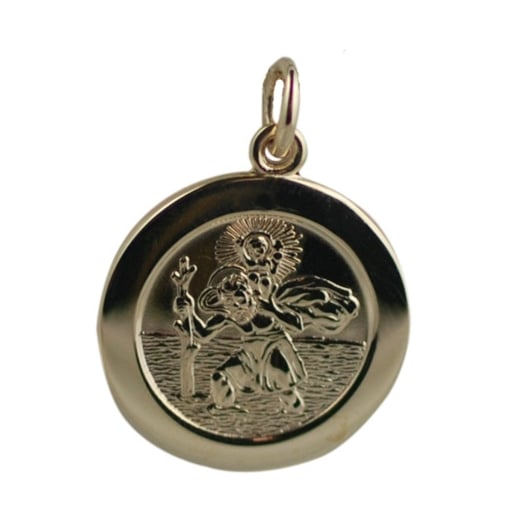Goodwins 9ct Yellow Gold St. Christopher Pendant.