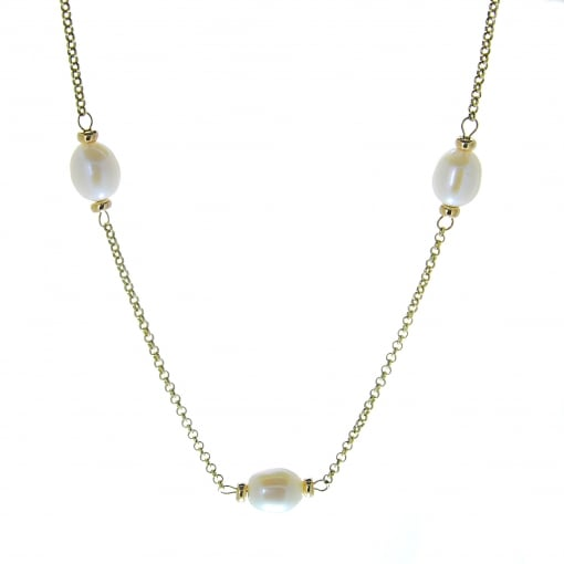 Goodwins Freshwater Pearl and Chain Necklet