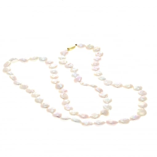 Goodwins Long Row of Pinky White Freshwater Pearls