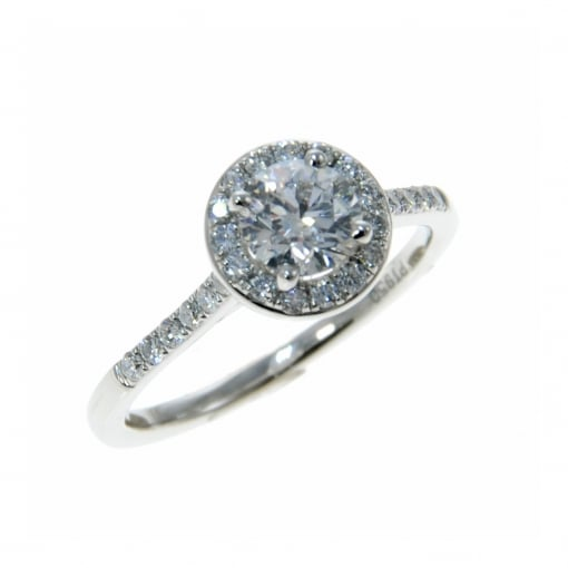 Goodwins Platinum Diamond Set Halo Ring