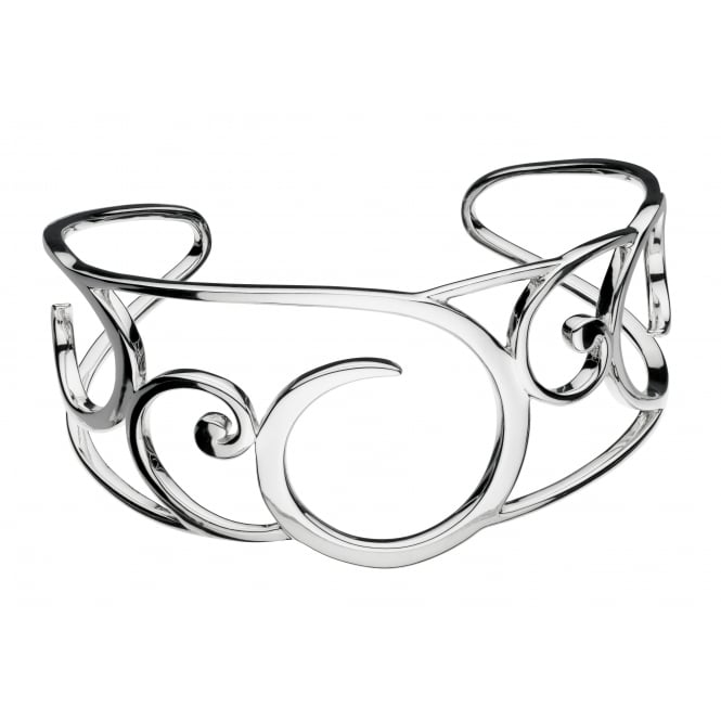 Kit Heath Silver Celine Cuff Bangle