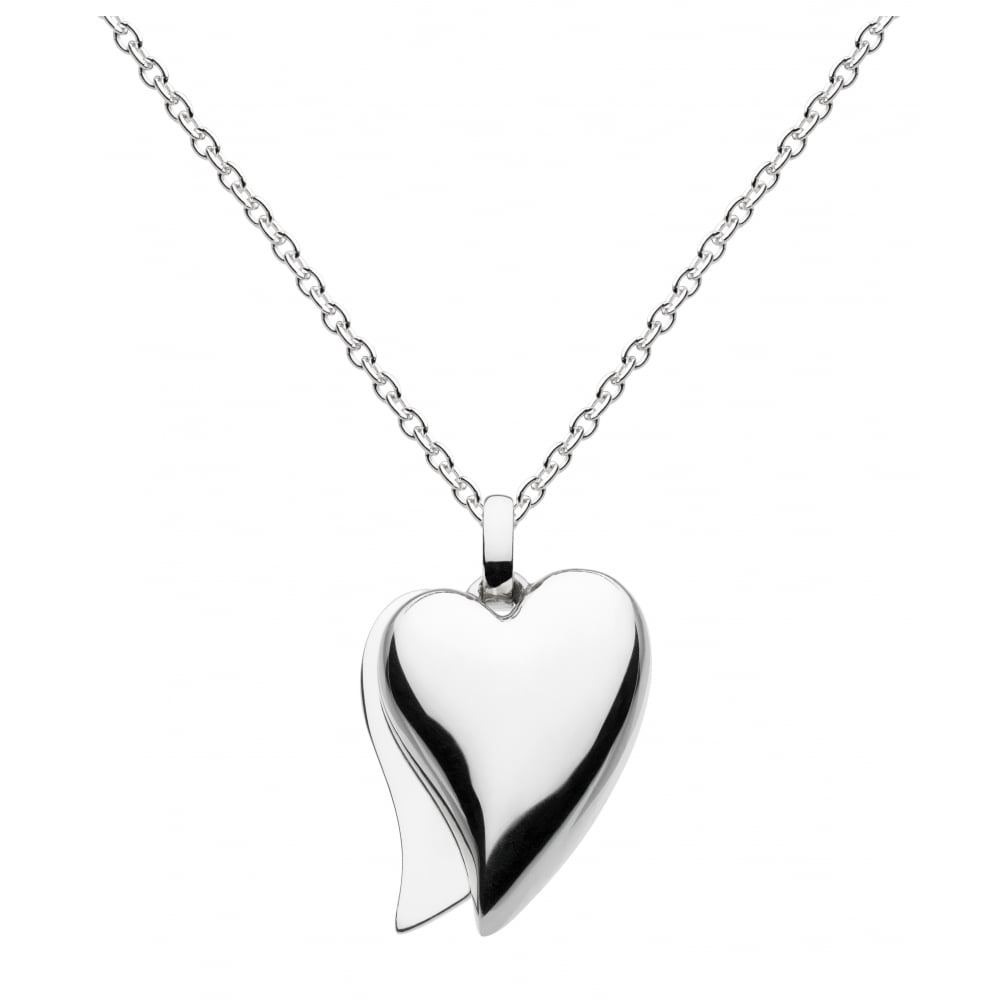 Kit heath silver split heart pendant ladies from goodwins jewellers uk silver split heart pendant aloadofball Gallery
