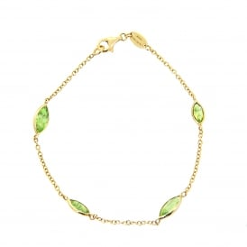 9ct Yellow Gold Peridot Bracelet