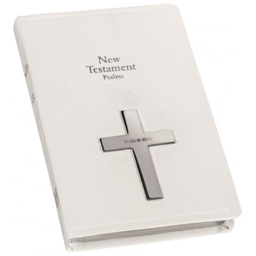 New Testament with Silver Cross on the Cover