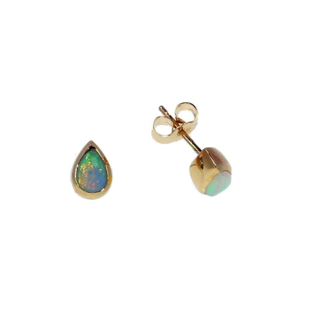 97ad21aa0c9ab 9ct Yellow Gold Opal Stud Earrings