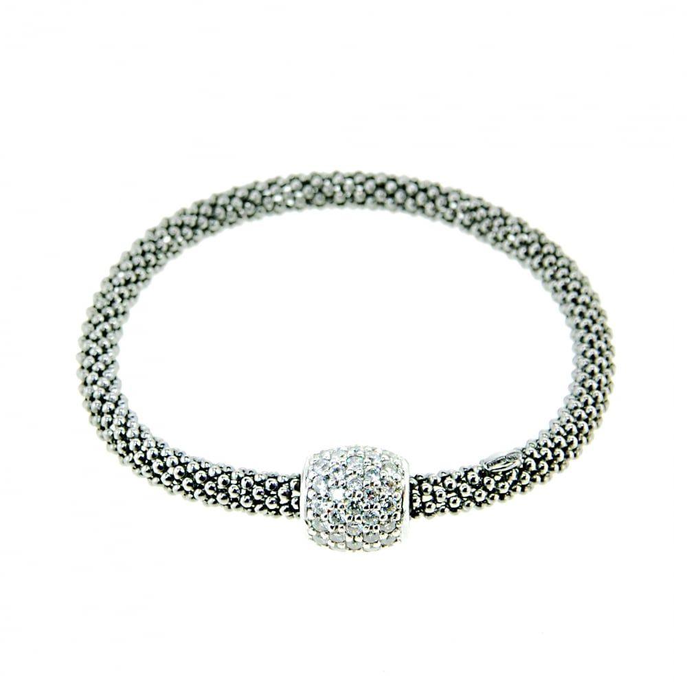 cubic stretch three eve addiction cz zirconia s row sparkling bracelet