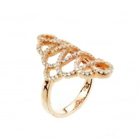 Rose Gold Plated Cubic Zirconia Ring.