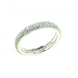 Silver Ring set with Cubic Zirconia