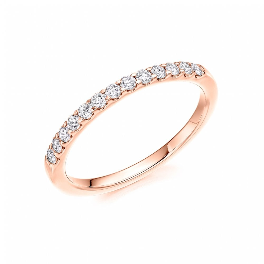 Raphael Collection 18ct Rose Gold Diamond Band - Ladies from ... 1220ce616