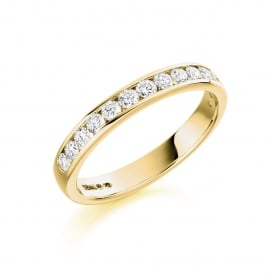 18ct Yellow Gold Eternity Ring with Diamonds