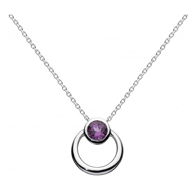 Kit Heath Silver Amethyst Pendant by