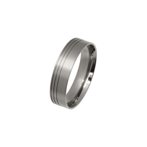 Ti2 FlatTitanium Band with Engraved lines 6mm