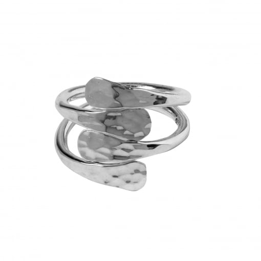 Tianguis Jackson Silver Cross Over Ring