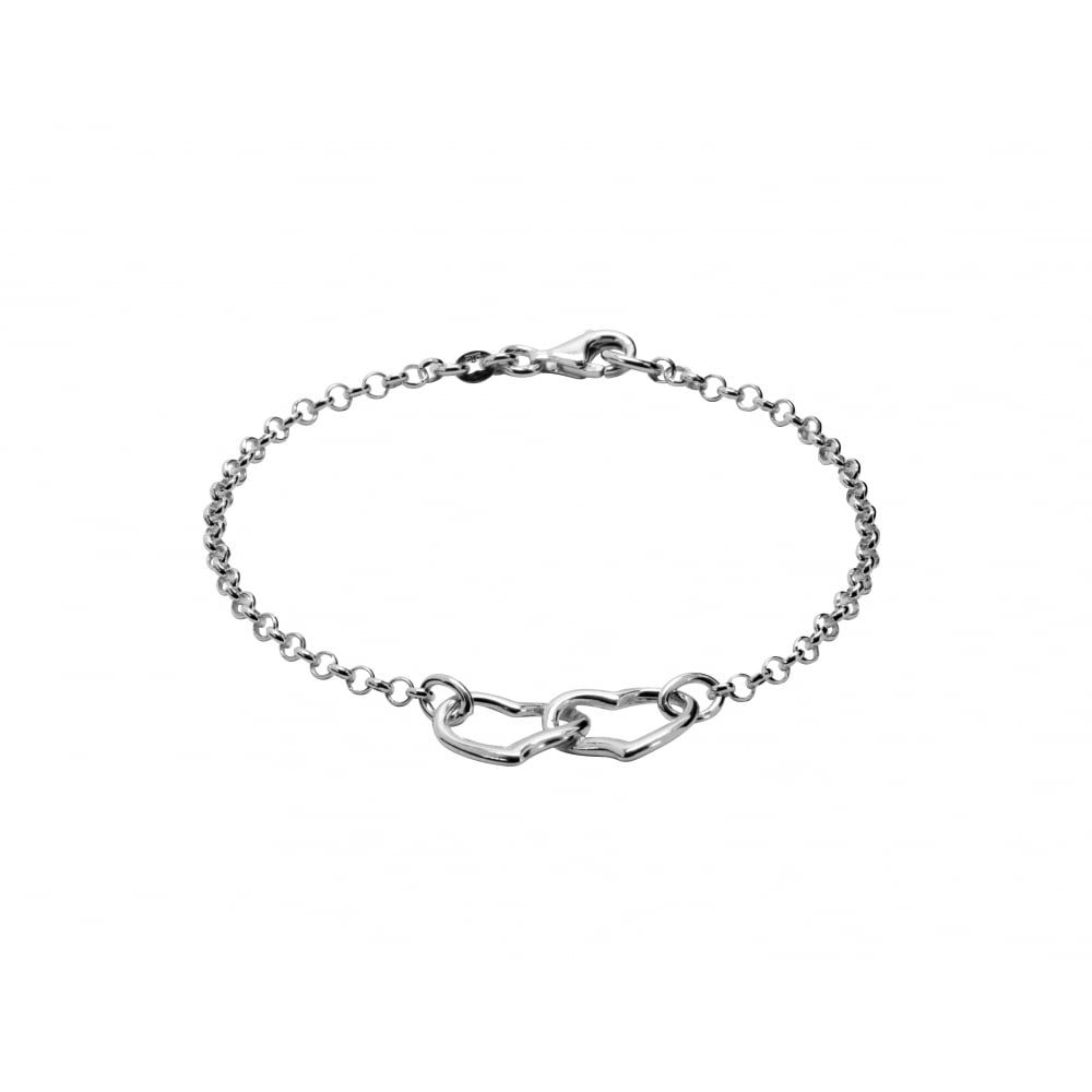 Tianguis Jackson Silver Double Heart Bracelet Ladies From Goodwins