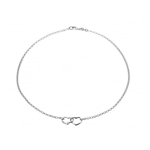 Tianguis Jackson Silver Double Heart Necklet