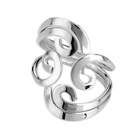 Silver Four Swirl Ring