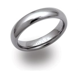 Unique & Co Polished Tungsten Carbide Ring