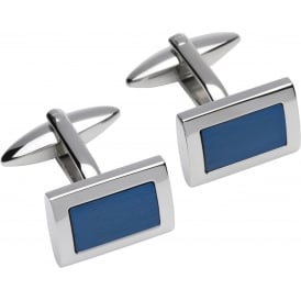 Unique & Co Steel Cufflinks with Blue Plating