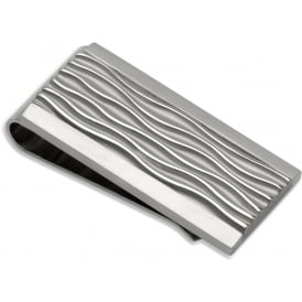 Unique & Co Steel Textured Money Clip