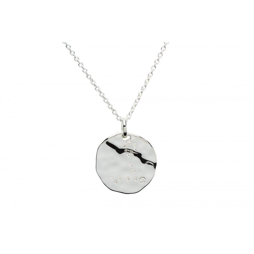 Unique co sterling silver pisces constellation pendant chain sterling silver pisces constellation pendant amp mozeypictures Choice Image