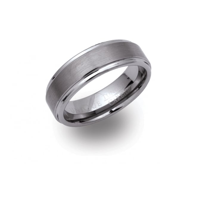 Unique & Co Tungsten Carbide Matt and Polished Ring